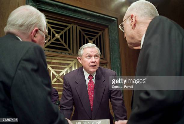 Edwin Meese III former US attorney general and Iraq Study Group member Sen Jeff Sessions RAla and Iraq Study Group CoChairman and former Rep Lee H...
