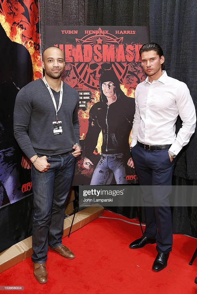 Edwin Meja and Vlad Yudin attend The Vladar Company And Arcana Comics Present The 1st Edition Of HEADSMASH at Jacob Javitz Center on October 11, 2012 in New York City.