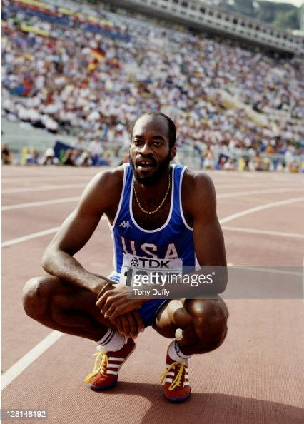 Edwin Moses of the United States before the Men's 400 metres hurdles event at the 2nd IAAF World Athletics Championships on 1st September 1987 at the...