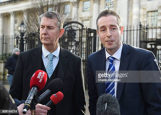 Edwin Poots and Paul Girvan of the DUP give their reaction the the decision to adjourn the so called 'Gay Cake' case as they held a press conference...