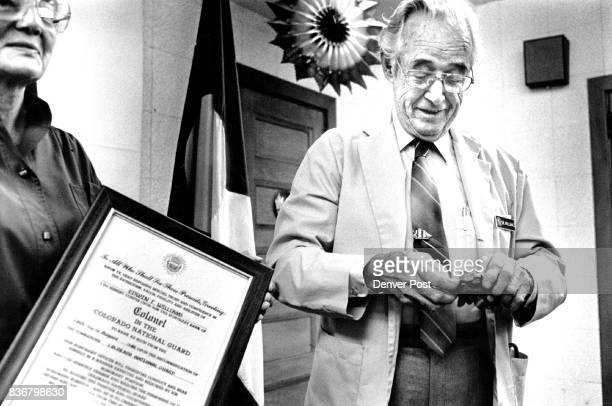 Edwin T Williams was made an honorary colonel Friday afternoon for the Colorado National Guard His wife Alberta holds the official decree signed by...