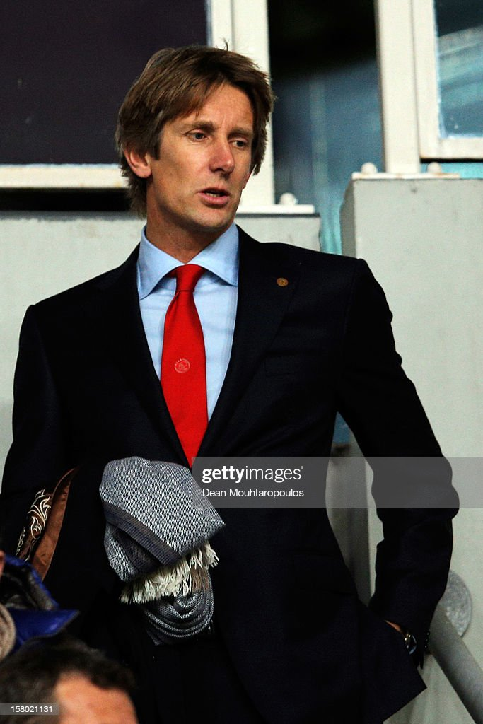 Edwin Van Der Sar looks on prior to the Eredivisie match between Ajax Amsterdam and FC Groningen at Amsterdam Arena on December 8, 2012 in Amsterdam, Netherlands.