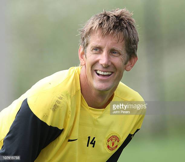 Edwin van der Sar of Manchester United in action during a First Team Training Session as part of their preseason tour of the US Canada and Mexico at...