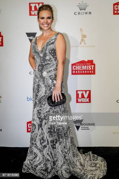 Edwina Barr arrives at the 59th Annual Logie Awards at Crown Palladium on April 23 2017 in Melbourne Australia