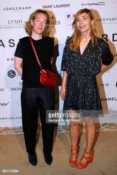 Edwina de Charette and Creator of the Price Nathalie Dufour attend the ANDAM 2017 Prize Winner Cocktail at Ministere de la Culture on June 30 2017 in...