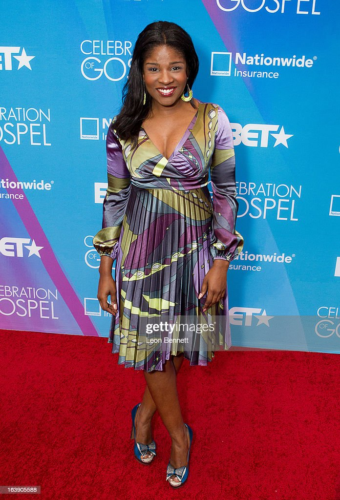 Edwina Finley arrives at the BET Network's 13th Annual 'Celebration of Gospel' at Orpheum Theatre on March 16, 2013 in Los Angeles, California.