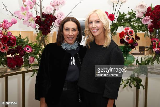 Edwina McCann and Megan Hess pose at the Georg Jensen store during Vogue American Express Fashion's Night Out 2017 on September 7 2017 in Sydney...