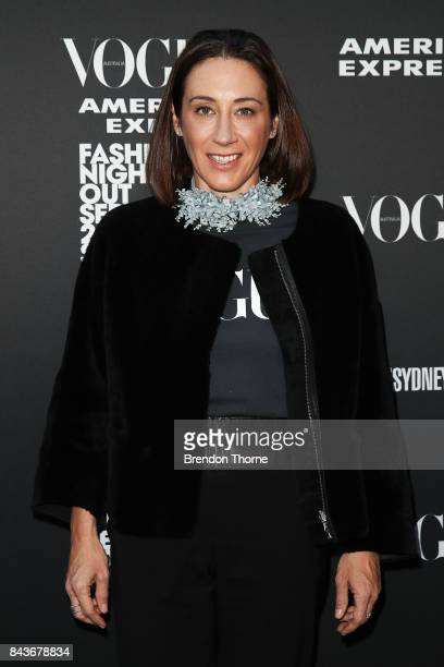 Edwina McCann poses during Vogue American Express Fashion's Night Out 2017 on September 7 2017 in Sydney Australia