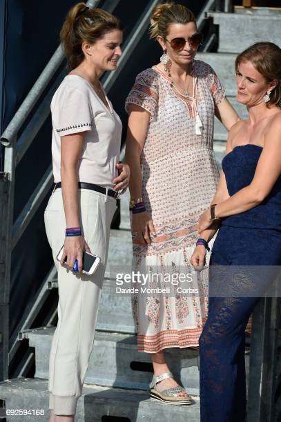 Edwina TopsAlexander Athina Onassisand JudyAnn Melchior during the Longines Grand Prix Athina Onassis Horse Show on June 3 2017 in St Tropez France