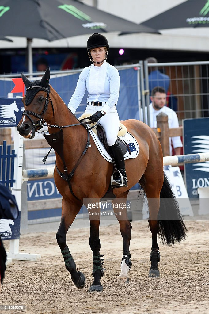 <a gi-track='captionPersonalityLinkClicked' href=/galleries/search?phrase=Edwina+Tops-Alexander&family=editorial&specificpeople=8673928 ng-click='$event.stopPropagation()'>Edwina Tops-Alexander</a> riders Lintea Tequila Longines Global Champions Tour of Monaco on June 24, 2016 in Monaco, Monaco.