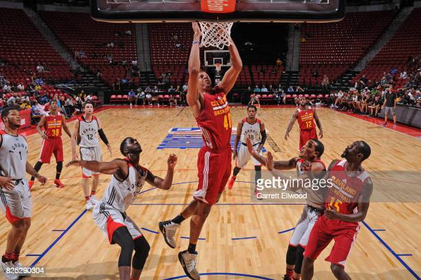 Edy Tavares of the Cleveland Cavaliers dunks the ball against the Toronto Raptors on July 14 2017 at the Thomas Mack Center in Las Vegas Nevada NOTE...