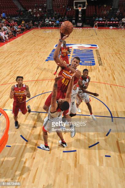 Edy Tavares of the Cleveland Cavaliers shoots the ball against the Toronto Raptors on July 14 2017 at the Thomas Mack Center in Las Vegas Nevada NOTE...