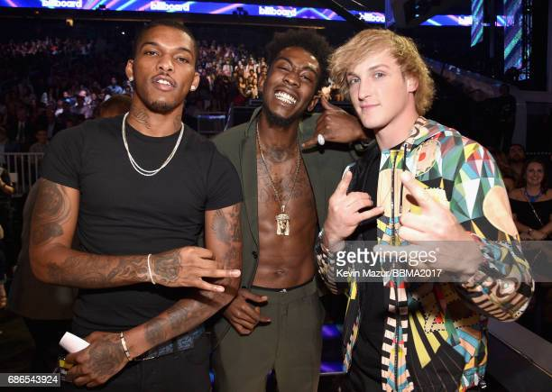 Eecording artist Desiigner and actorInternet personality Logan Paul attend the 2017 Billboard Music Awards at TMobile Arena on May 21 2017 in Las...