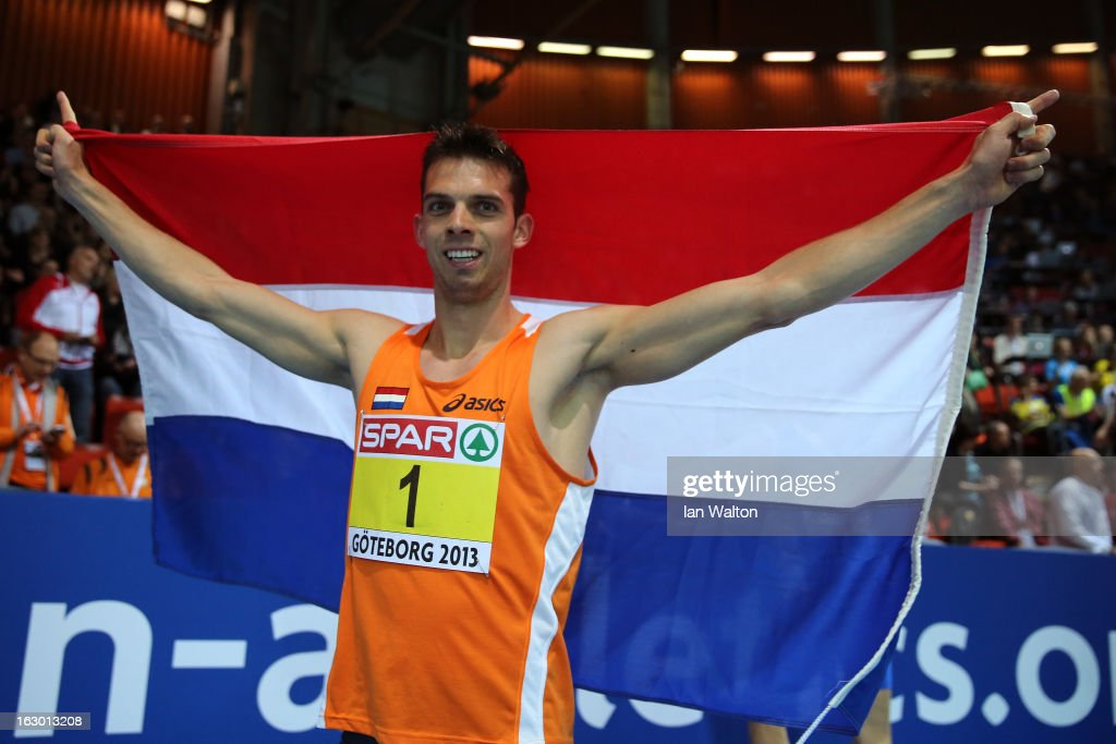 <a gi-track='captionPersonalityLinkClicked' href=/galleries/search?phrase=Eelco+Sintnicolaas&family=editorial&specificpeople=5747041 ng-click='$event.stopPropagation()'>Eelco Sintnicolaas</a> of Netherlands wins gold in the Men's Hepathlon during day three of European Indoor Athletics at Scandinavium on March 3, 2013 in Gothenburg, Sweden.