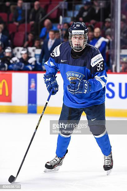 Eeli Tolvanen of Team Finland skates during the IIHF World Junior Championship preliminary round game against Team Czech Republic at the Bell Centre...