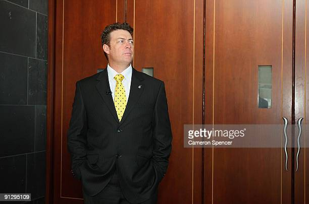 Eels coach Daniel Anderson prepares to enter the 2009 NRL Grand Final Breakfast at Sydney Convention Exhibition Centre on October 1 2009 in Sydney...