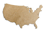 3d rendering of a United States map