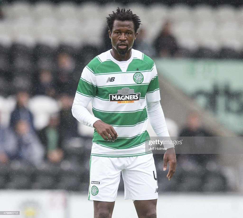 <a gi-track='captionPersonalityLinkClicked' href=/galleries/search?phrase=Efe+Ambrose&family=editorial&specificpeople=4406353 ng-click='$event.stopPropagation()'>Efe Ambrose</a> of Celtic at the Pre Season Friendly between Celtic and FK Dukla Praha at St Mirren Park on July 04, 2015 in Paisley, Scotland.