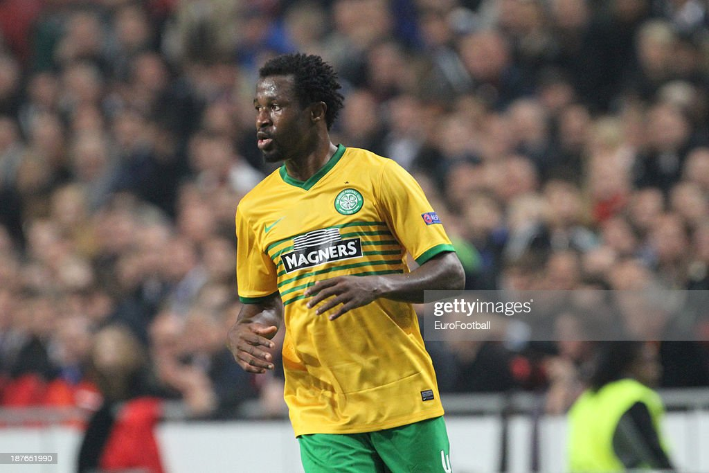 <a gi-track='captionPersonalityLinkClicked' href=/galleries/search?phrase=Efe+Ambrose&family=editorial&specificpeople=4406353 ng-click='$event.stopPropagation()'>Efe Ambrose</a> of Celtic FC in action during the UEFA Champion League group stage match between AFC Ajax and Celtic FC held on November 6, 2013 at the Amsterdam ArenA in Amsterdam, Netherlands.