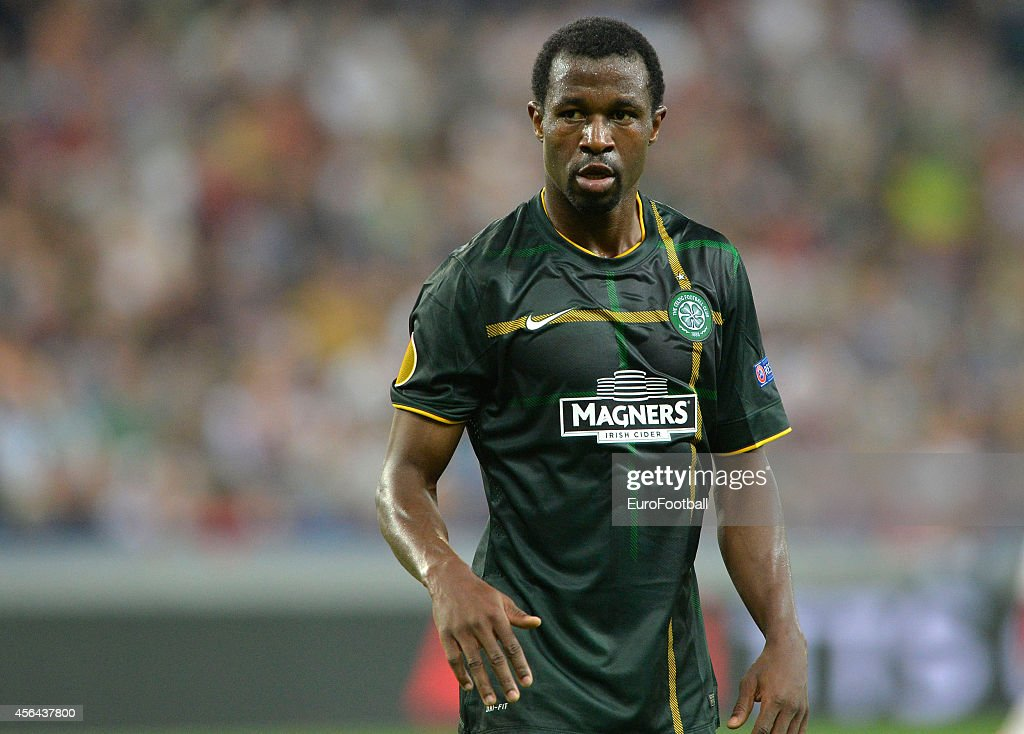<a gi-track='captionPersonalityLinkClicked' href=/galleries/search?phrase=Efe+Ambrose&family=editorial&specificpeople=4406353 ng-click='$event.stopPropagation()'>Efe Ambrose</a> of Celtic in action during the UEFA Europa League Group D match between FC Salzburg and Celtic FC on September 18, 2014 in Salzburg,Austria.