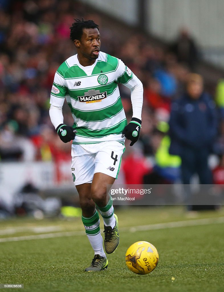 <a gi-track='captionPersonalityLinkClicked' href=/galleries/search?phrase=Efe+Ambrose&family=editorial&specificpeople=4406353 ng-click='$event.stopPropagation()'>Efe Ambrose</a> of Celtic runs with the ball during the William Hill Scottish Cup Fifth Round match between East Kilbride and Celtic at Excelsior Stadium on February 7, 2016 in Airdrie, Scotland.