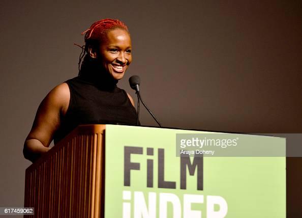 Effie Brown EVP of Production and Development at Lee Daniels Entertainment speaks onstage at Filmmaker Keynote Effie Brown during the Film...