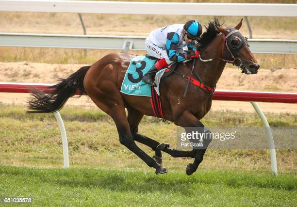 Effleurer ridden by Dean Yendall wins the Shire Hall Hotel 3YO Maiden Plate at Ararat Racecourse on March 10 2017 in Ararat Australia