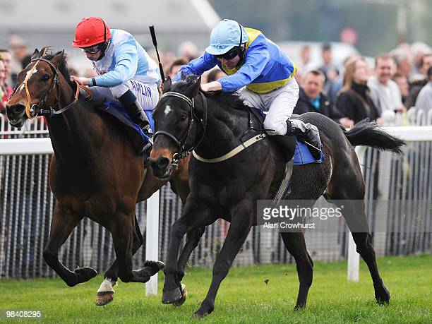 Efistorm and Liam Keniry win The Join Royal Windsor Racing Club Handicap Stakes from Rocker at Windsor racecourse on April 12 2010 in Windsor England