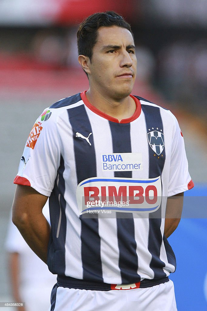 <a gi-track='captionPersonalityLinkClicked' href=/galleries/search?phrase=Efrain+Juarez&family=editorial&specificpeople=2217642 ng-click='$event.stopPropagation()'>Efrain Juarez</a> of Monterrey looks on prior a match between Queretaro and Monterrey as part of 7th round Apertura 2014 Liga MX at Corregidora Stadium on August 29, 2014 in Queretaro, Mexico.