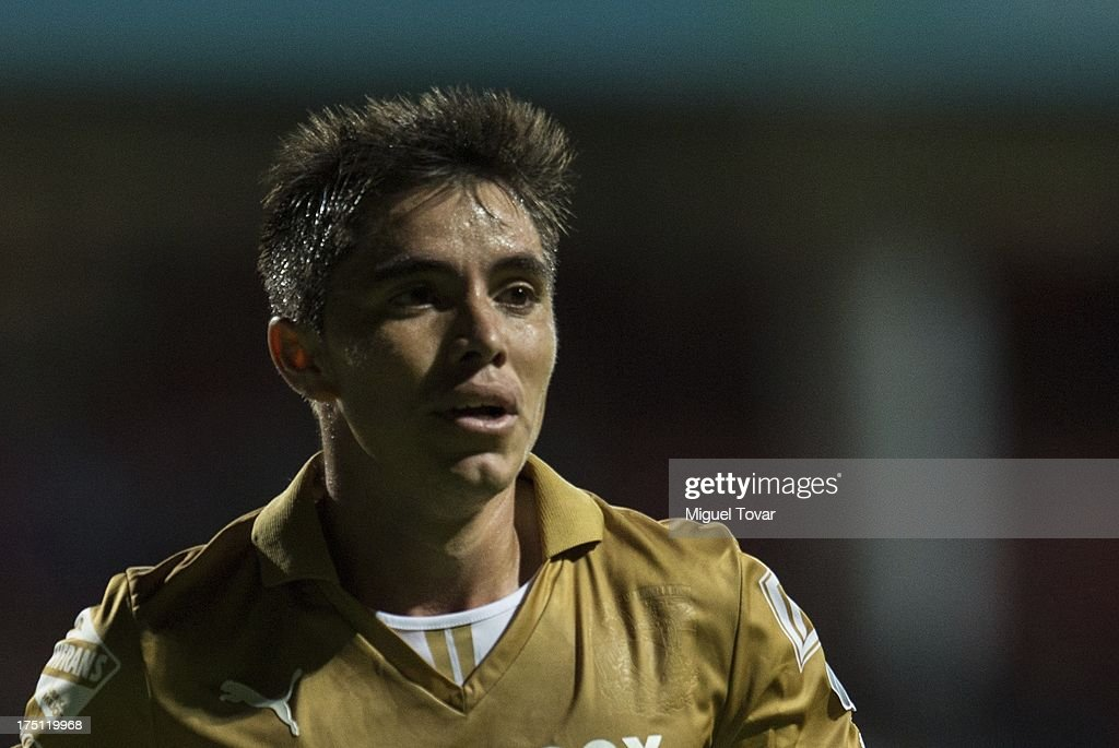 Efrain Velarde of Pumas during a match between Toluca and Pumas as part of the Torneo Apertura 2013 Liga MX at Nemesio Siez stadium, on July 31, 2013 in Toluca, Mexico.