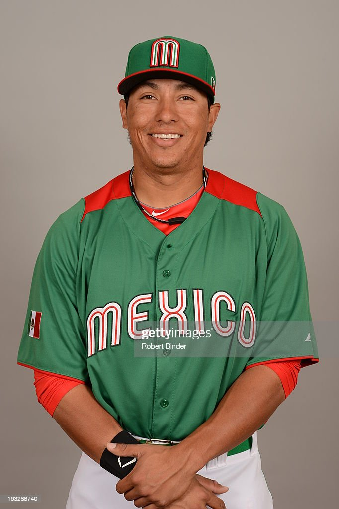 Efren Navarro #68 of Team Mexico poses for a headshot for the 2013 World Baseball Classic on Monday, March 4, 2013 at Camelback Ranch in Glendale, Arizona.