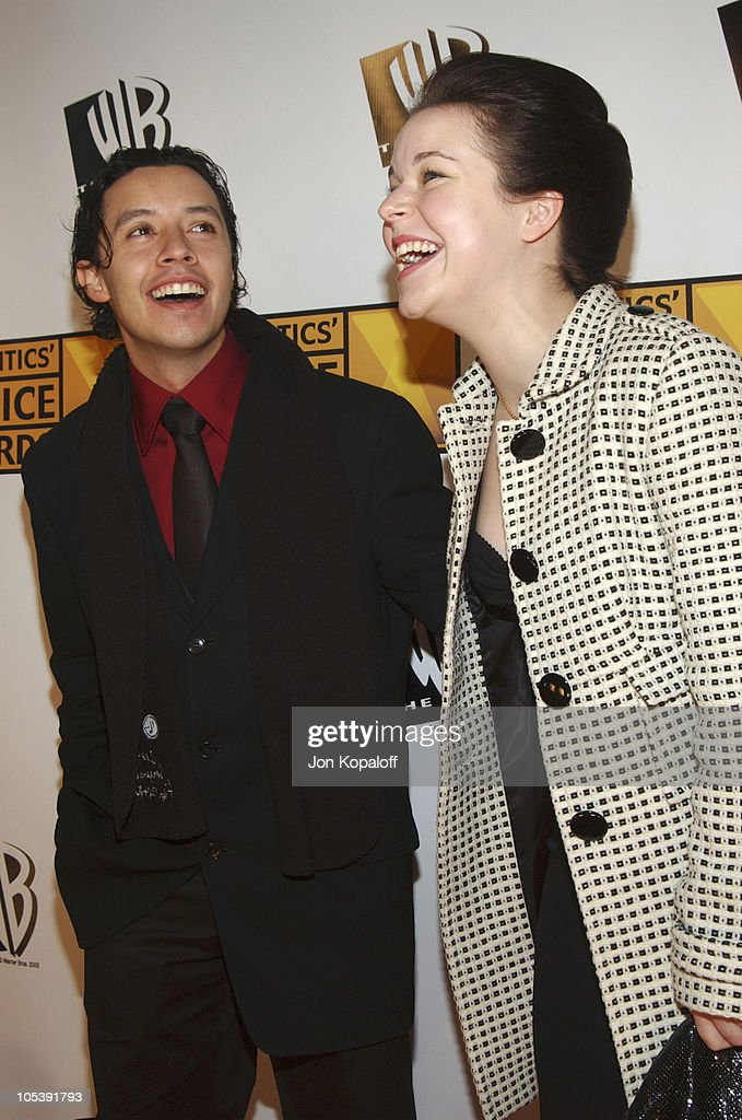 Efren Ramirez and Tina Majorino during 10th Annual Critics' Choice Awards Arrivals at Wiltern LG Theatre in Los Angeles California United States