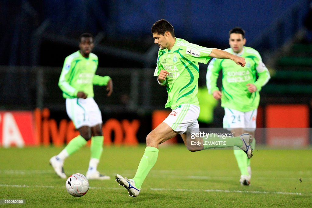 Efstathios Tavlaridis during the French Ligue 1 soccer match between Valenciennes and AS Saint Etienne