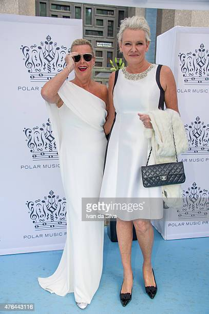 Efva Attling and Eva Dahlgren attend Polar Music Prize at Stockholm Concert Hall on June 9 2015 in Stockholm Sweden