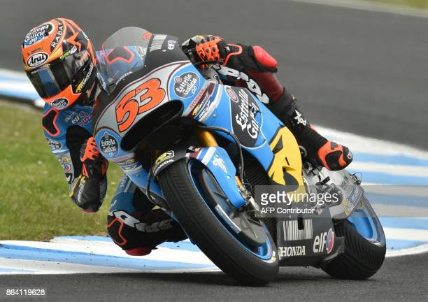 Eg 00 Marc Vds rider Tito Rabat of Spain rides in the third practice session of the Australian MotoGP Grand Prix at Phillip Island on October 21 2017...