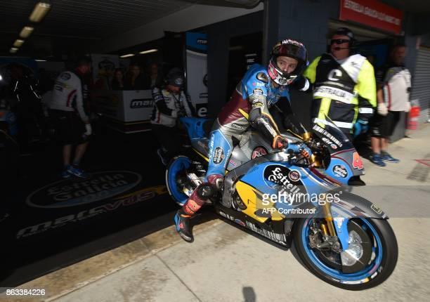 Eg 00 Marc Vds team rider Jack Miller of Australia leaves the garage for the second practice session of the Australian MotoGP Grand Prix at Phillip...