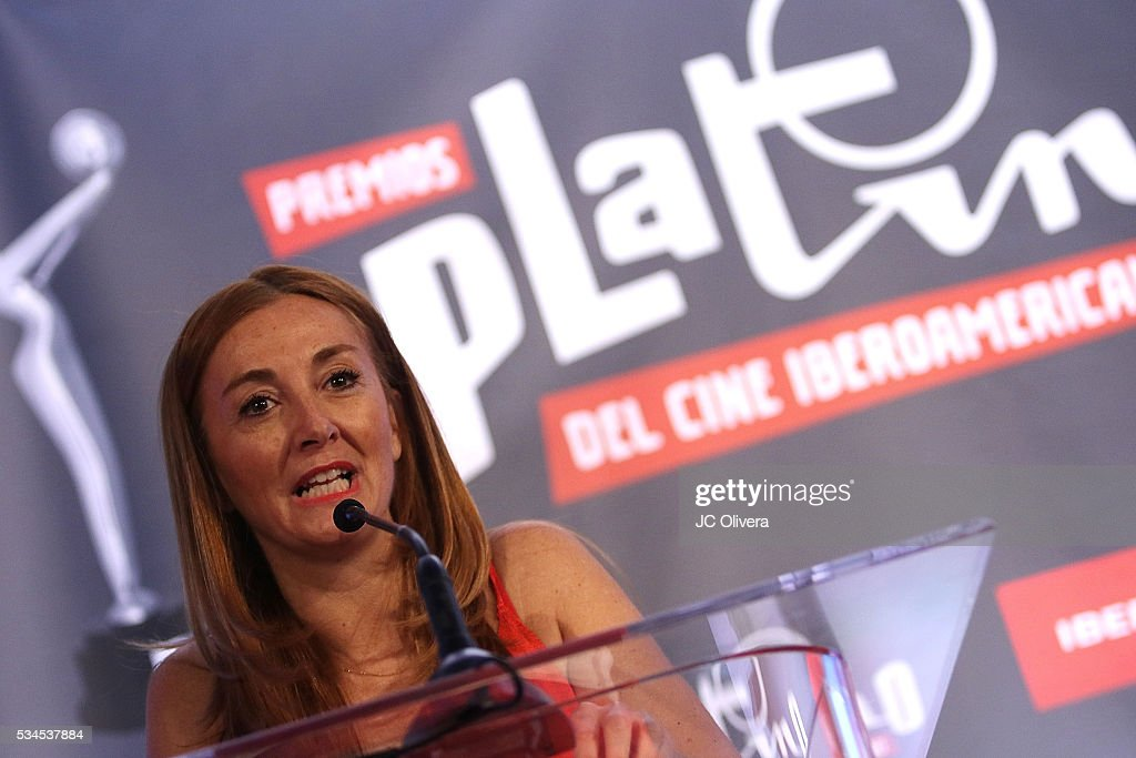 Egeda Executive Elvi Cano attends the nomination announcement for The 3rd Annual Premios Platino of Iberoamerican Cinema at The London on May 26, 2016 in West Hollywood, California.