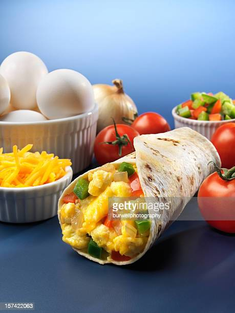 Egg and vegetable Burrito