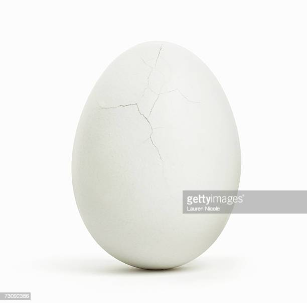 Egg, cracks on surface, close up