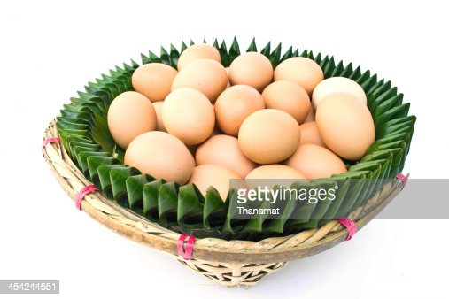 Egg on a white background : Stock Photo