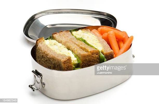 Egg salad sandwich lunch box
