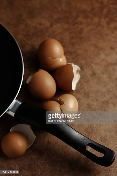 Egg shells and fried recipe moment