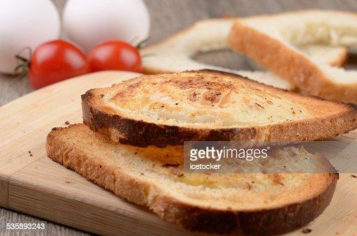 Œuf, pain grillé : Photo