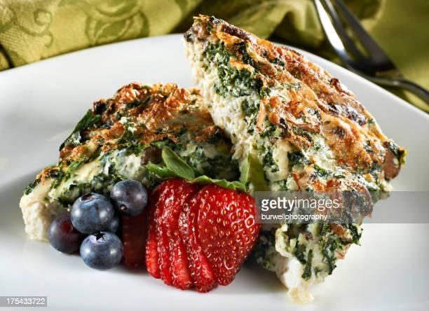Bianco d'uovo e Tortino di spinaci
