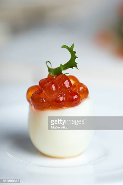 Egg with red caviar