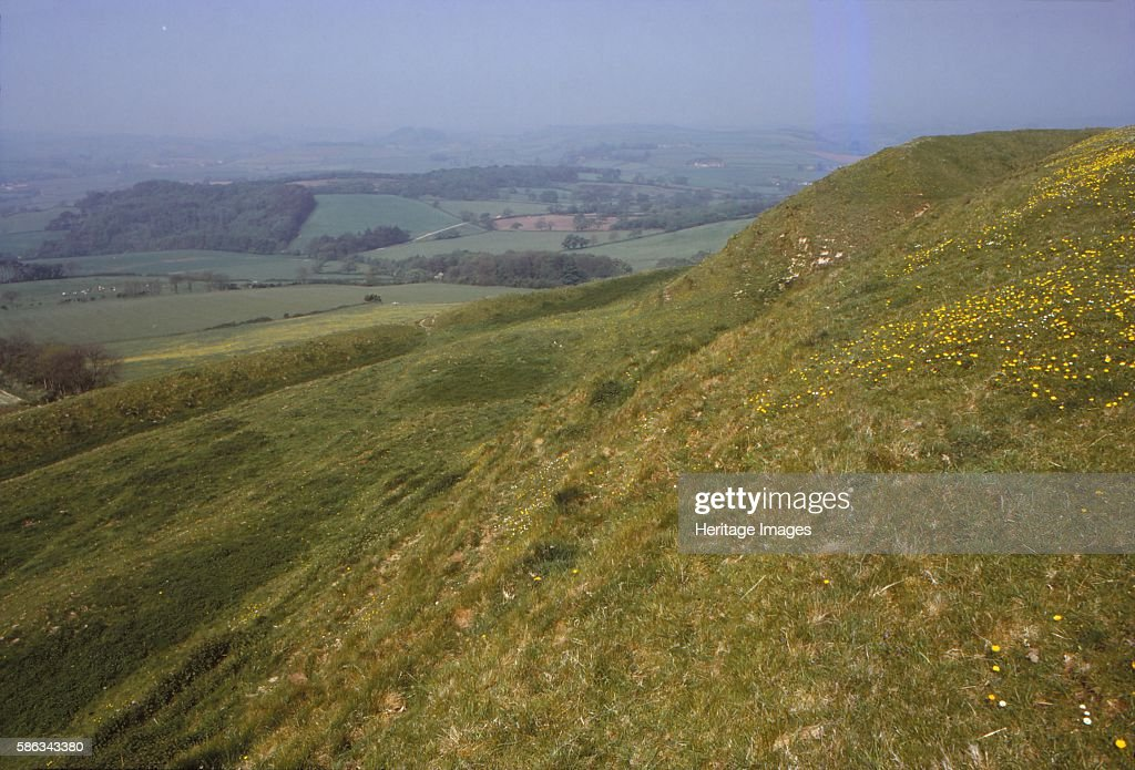 Eggardon Hill Dorset England 20th century Located on chalk uplands in the English county of Dorset First documented in the Domesday Book of 1086 From...