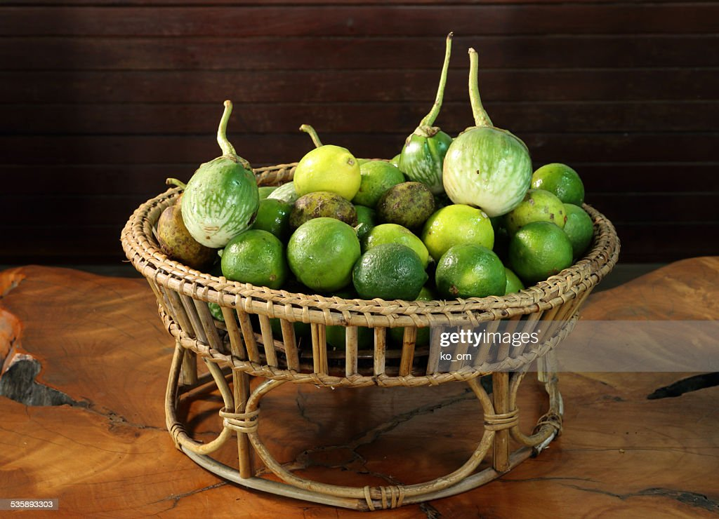 Eggplant and lemon : Stock Photo