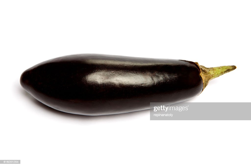 Eggplant Isolated on a white background : Foto de stock