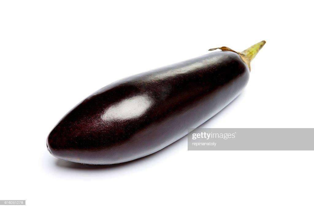 Eggplant Isolated on a white background : Stock Photo