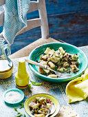 Eggplant, mint and sultana salad